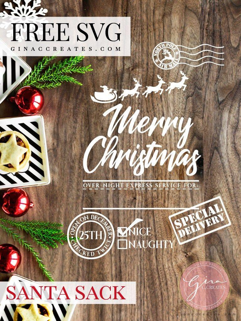 Santa's Gift Bag Sack Cricut christmas ideas, Christmas