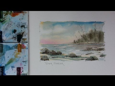 Huron Shore Wet Into Wet Watercolour Demonstration On Cold Press