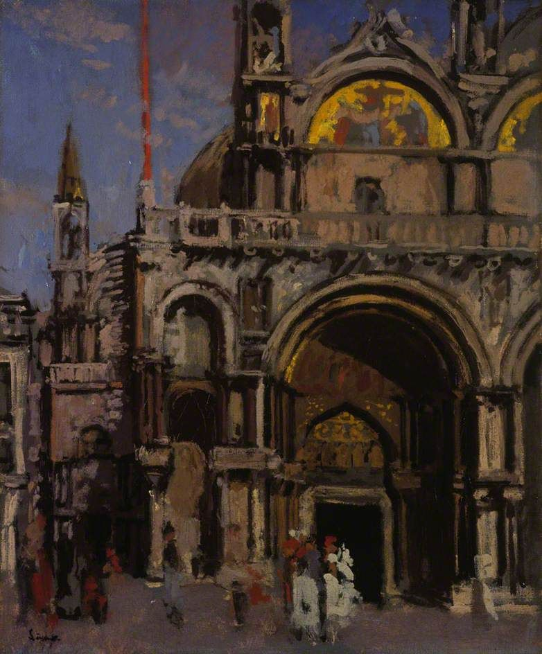 Walter Richard Sickert 1860 1942 Corner Of St Mark S Venice