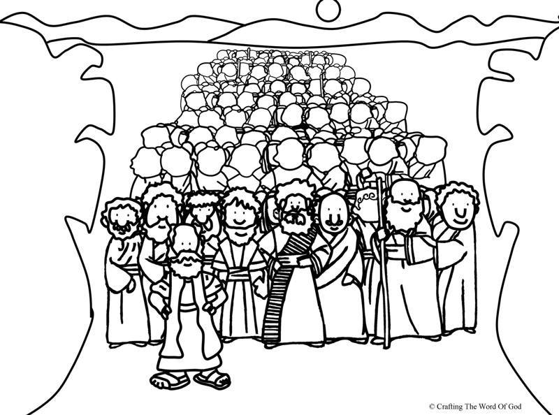 Cruzando El Mar Rojo- Pagina De Colorear | Manualidades Biblicas ...