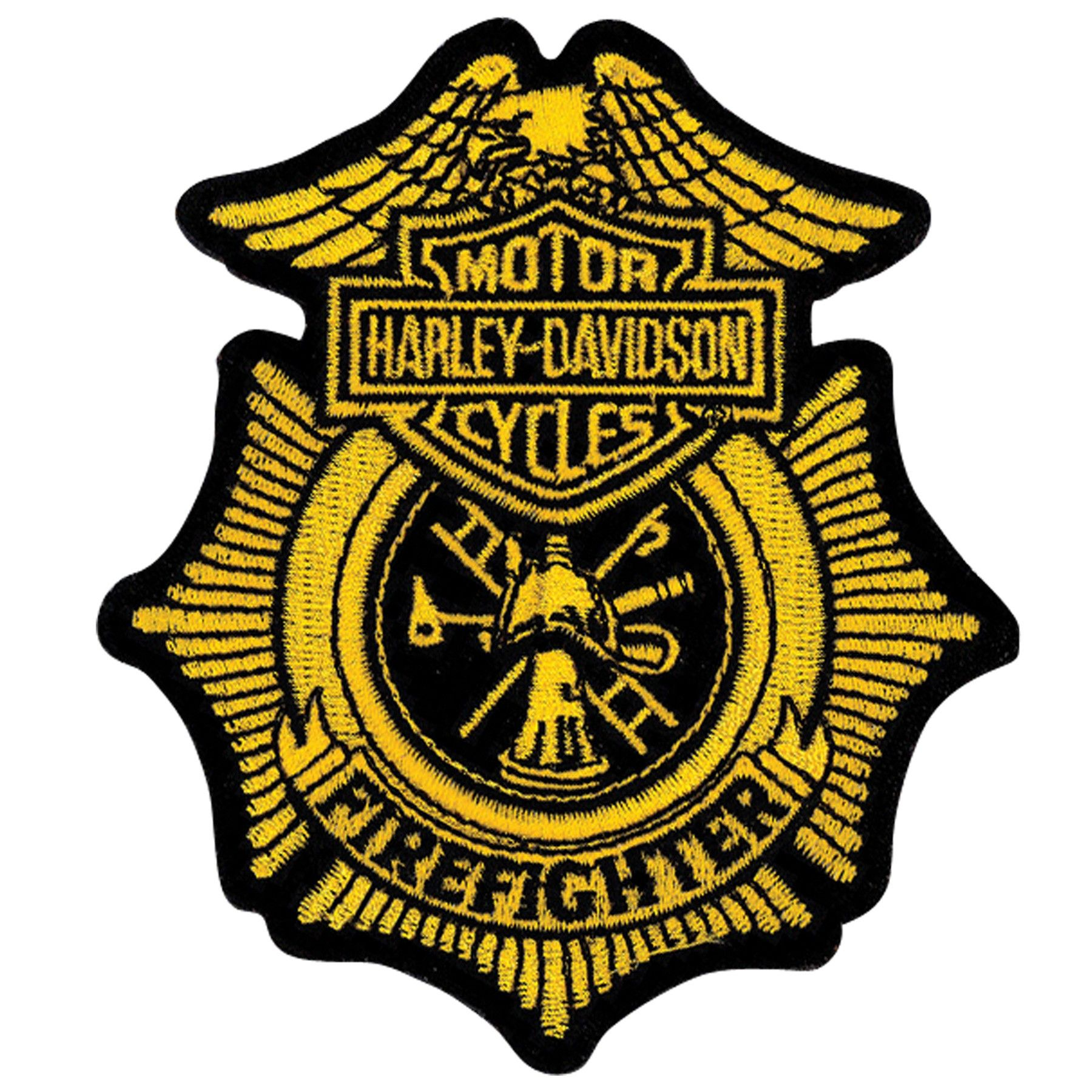Harley davidson google zoeken bike art pinterest bike art harley davidson firefighter gold patch small w x h measures 3 x gold bar shield eagle firefighter logo size 3 w x h buycottarizona Choice Image