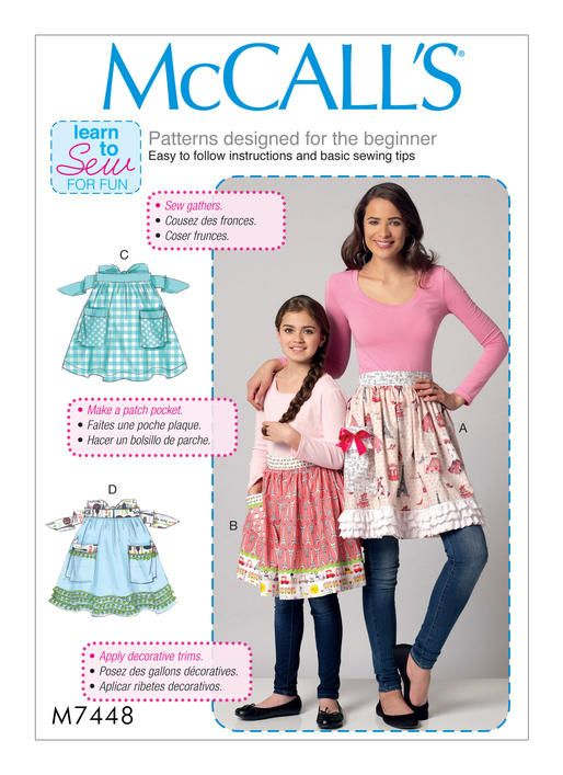 McCall\'s Learn to Sew for Fun sewing pattern. M7448 Misses\'/Girls ...