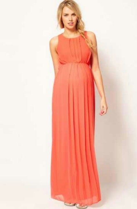 Modas de vestidos largos para embarazadas