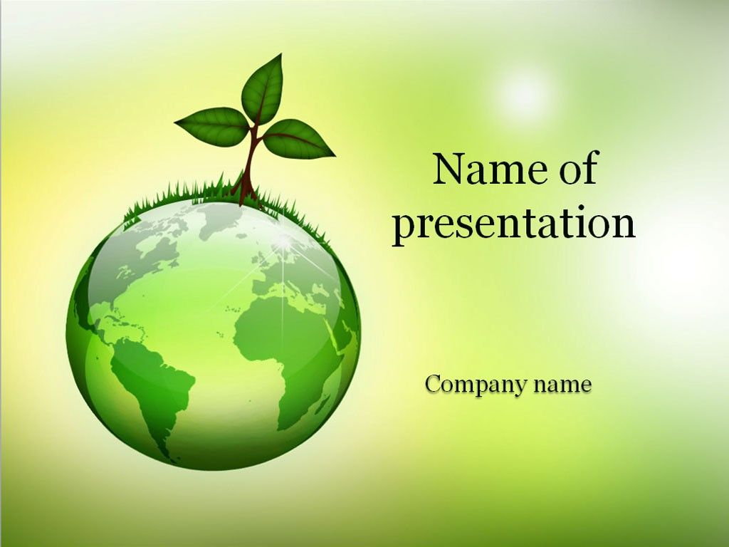 eco world powerpoint template | templates | pinterest | template, Modern powerpoint