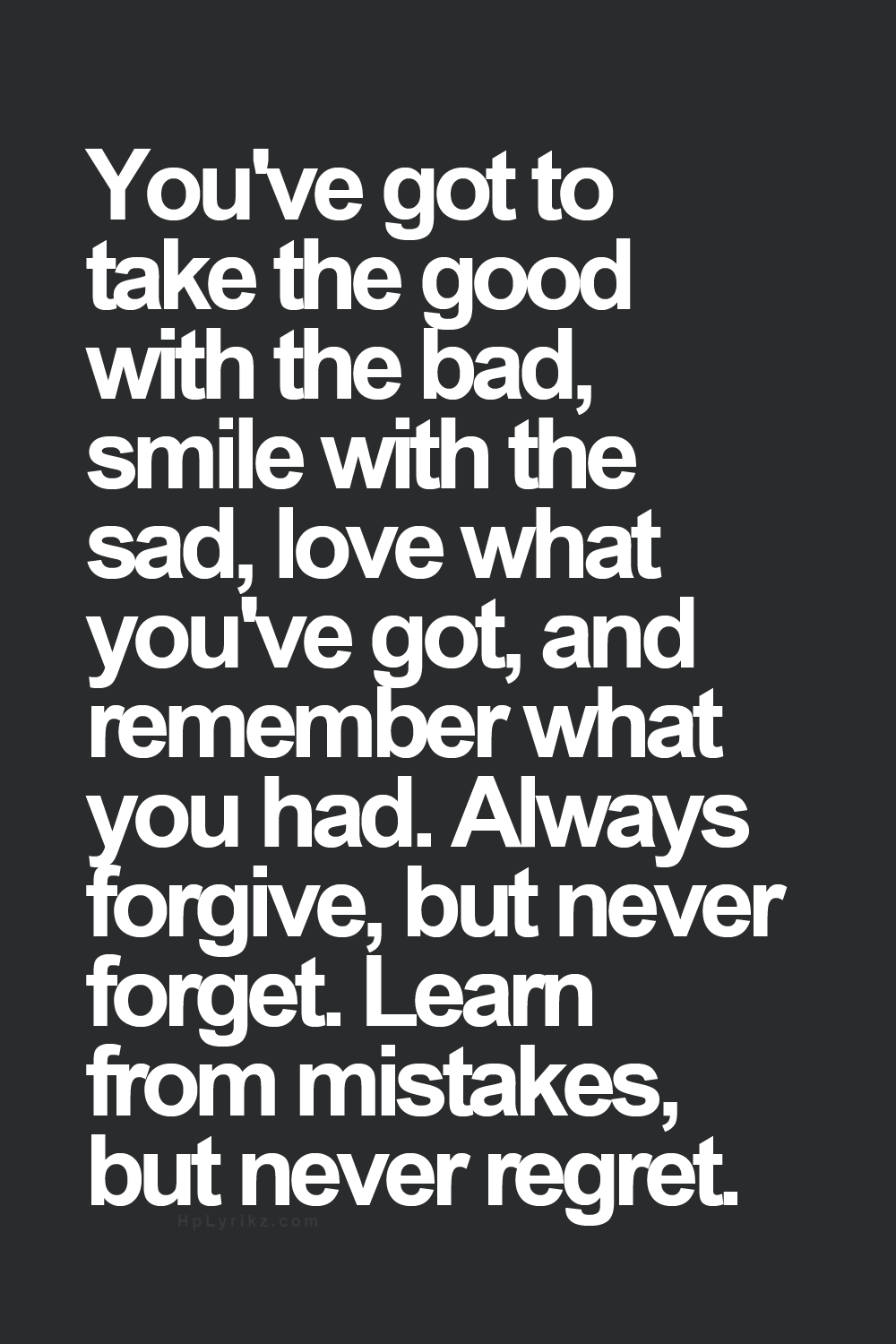 Learn To Accept and Forgive Your Past - Picture Quotes