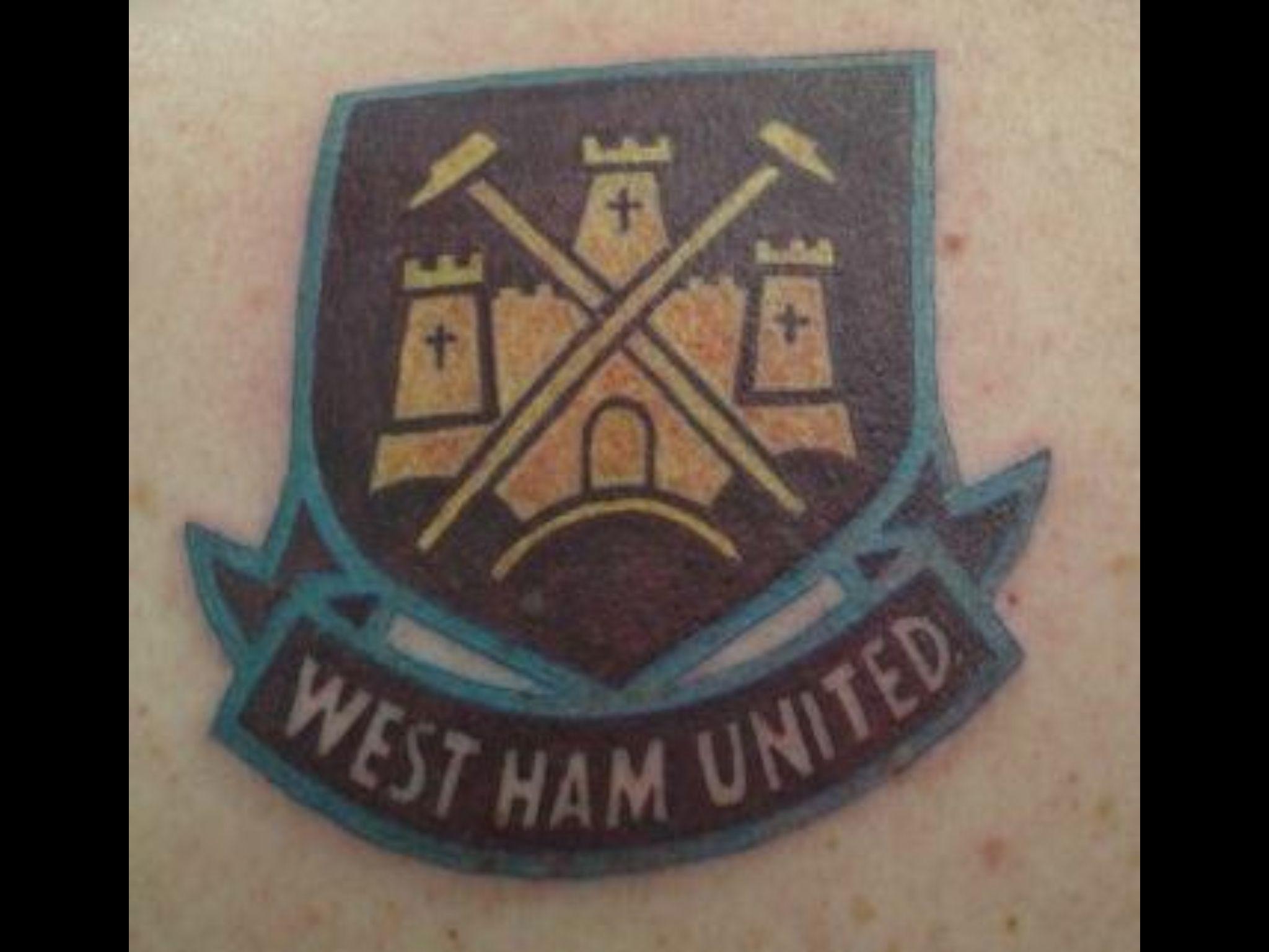 West Ham United badge tattoo   E&B bookmark   Tattoos, Black tattoos