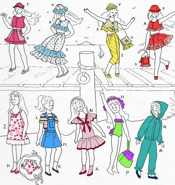 Sewing Pattern for Skipper Doll: Summer Clothes. Fits Blythe. $6.00 ...
