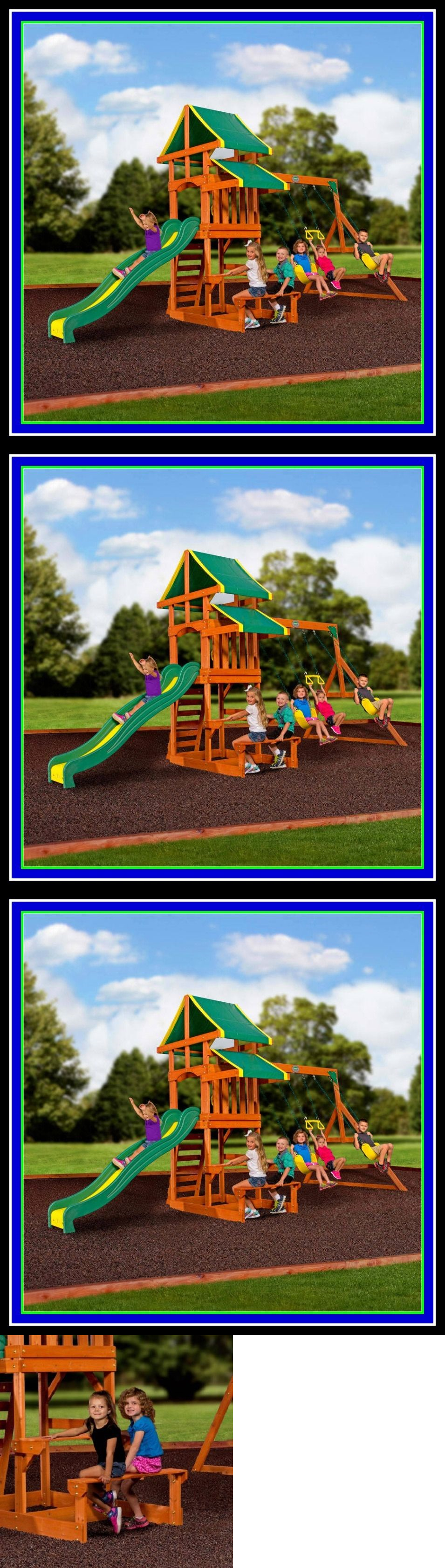swings slides and gyms 16515 backyard discovery cedar wooden