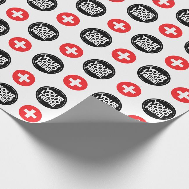 Your Business Logo Custom Switzerland Wrapping Paper