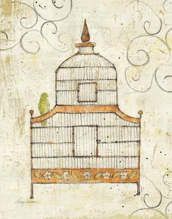 Bird Cage III Art Print by Avery Tillmon at Art.com