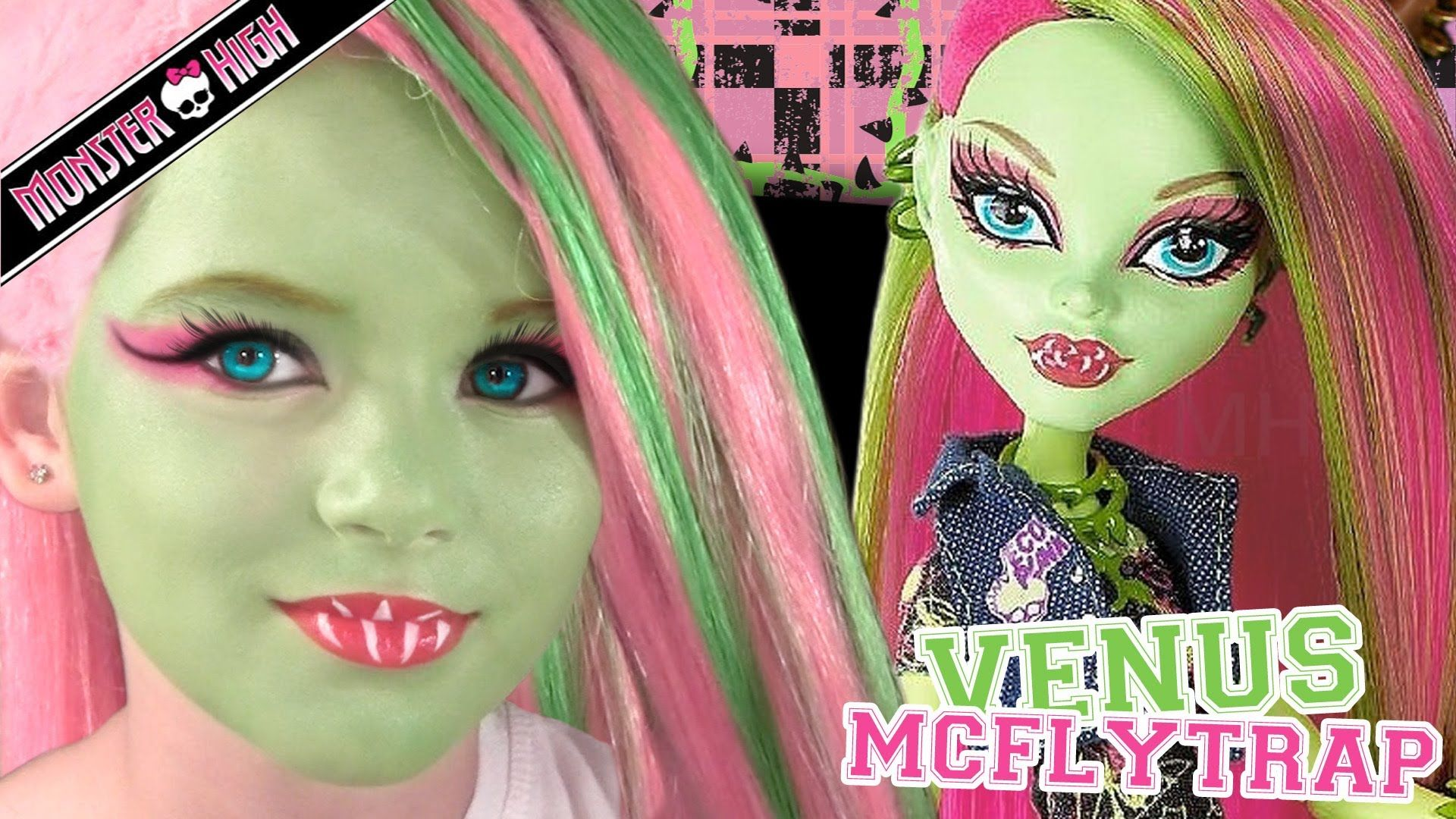Venus mcflytrap monster high doll costume makeup tutorial for venus mcflytrap monster high doll costume makeup tutorial for cosplay or halloween baditri Gallery