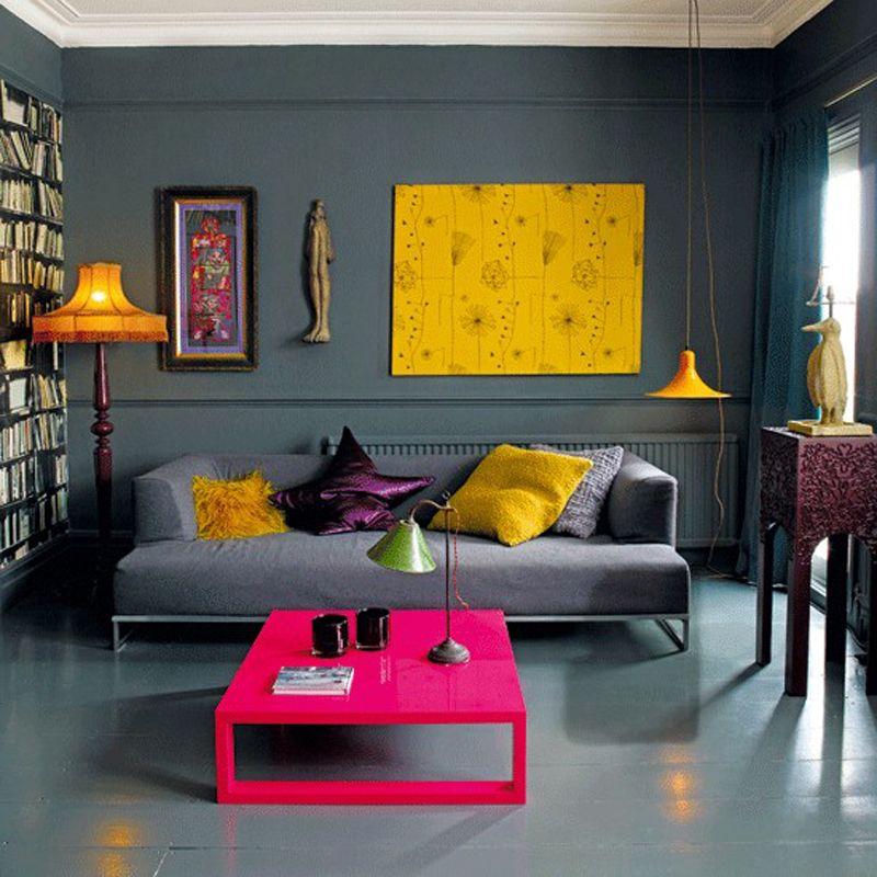 wohnzimmergestaltung mit farben und bildern - 70 frische, Wohnzimmer