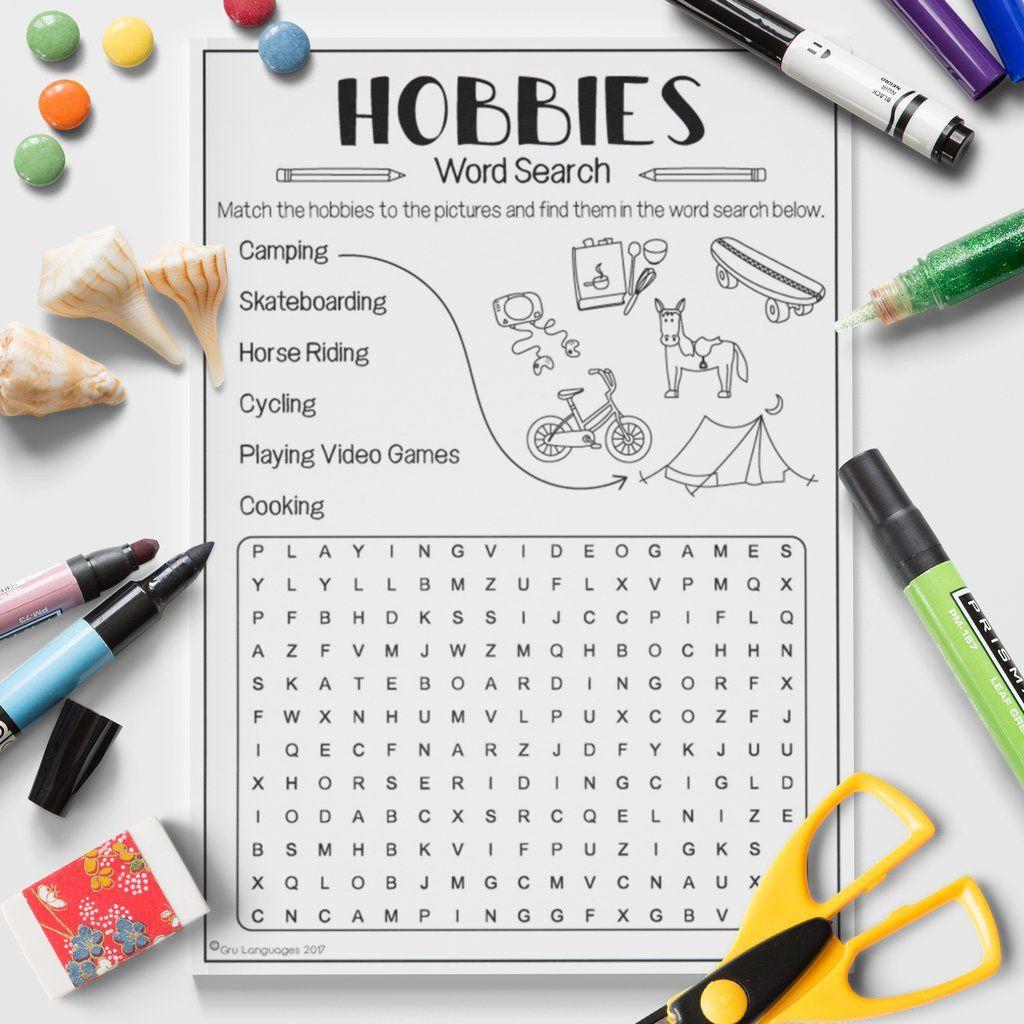 Hobbies Word Search