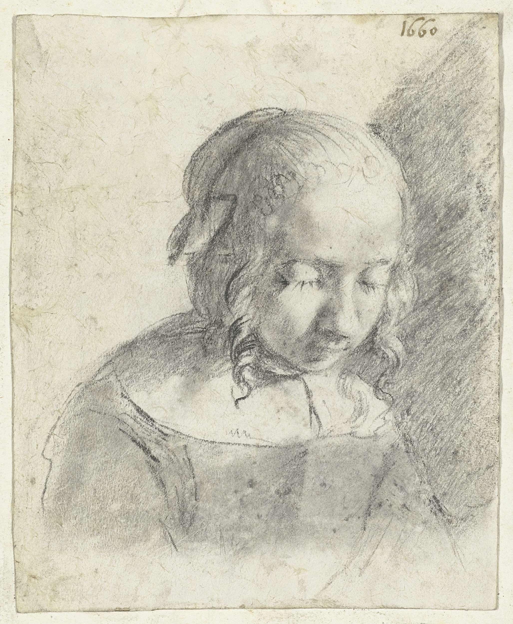 Moses ter Borch, Hoofd van een meisje (1660, Rijksmuseum, Amsterdam)