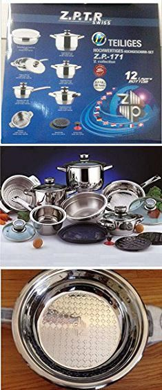 Zepter Cookware Z P T R Swiss 16 Piece Stainless Steel Cookware