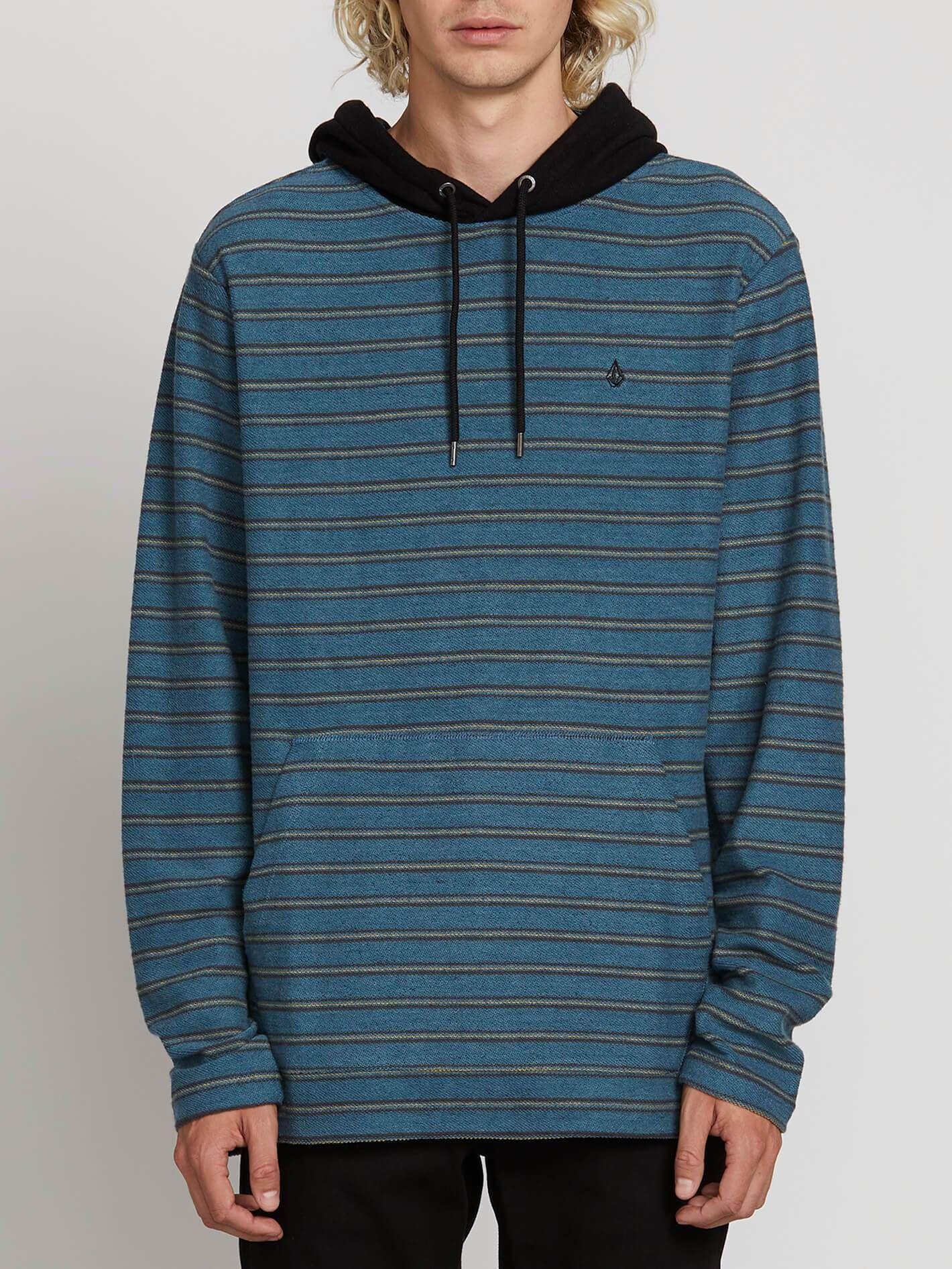 "Blue Men/'s Hooded Long Sleeve Sweatshirt Volcom /""Chiller/"" Pullover Hoodie"