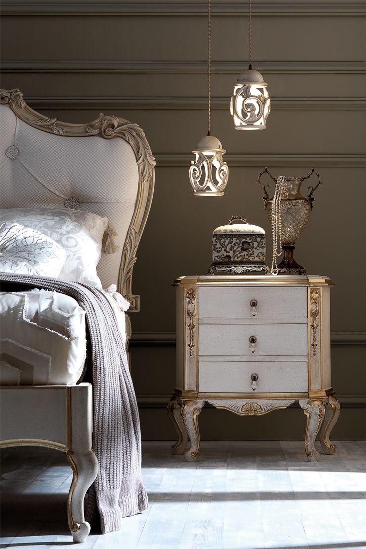 Ornate Italian Rococo Bedside Luxury bedroom