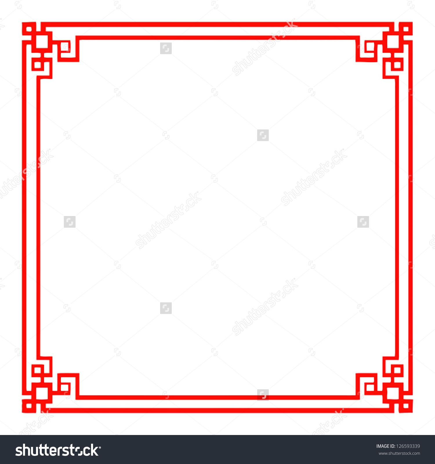 Vector Classic Chinese Red Frame
