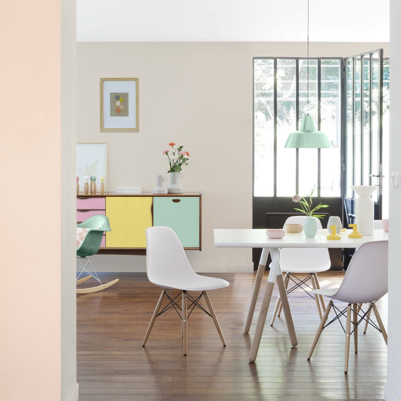 int rieur pastel avec la peinture beige nude nacr pastel salon ideedeco salon pinterest. Black Bedroom Furniture Sets. Home Design Ideas