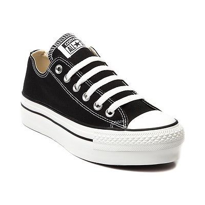 New Womens Converse All Star Lo Platform Sneaker Black ...