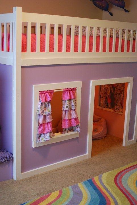 25 Cool And Fun Loft Beds For Kids Diy Loft Bed Playhouse Loft