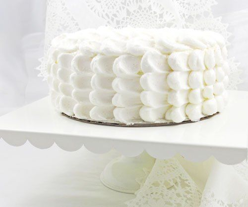 Cloud Frosting + Champagne Cake Recipe from Annies Eats