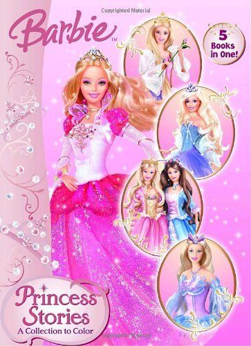 Princess Stories A Collection To Color Barbie Jumbo Coloring Book By Golden Books 499 Reading Level Ages 3 And Up Series