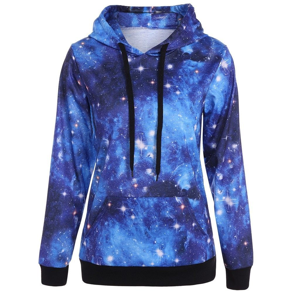 0e4a8b76 Details about Women Casual Hoodies Sweatshirt Ladies Hooded Long ...