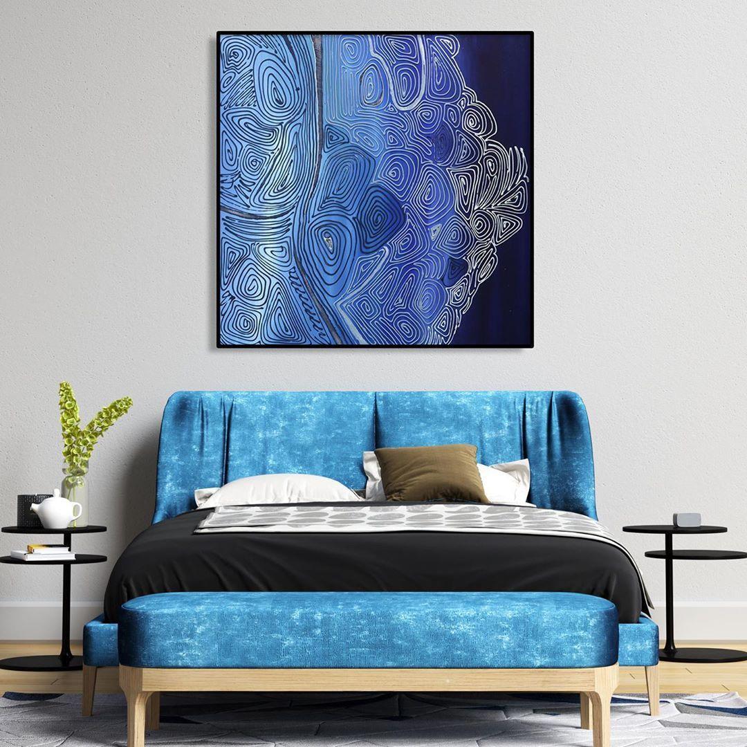 "@wildbrush.art shared a photo on Instagram: ""Artwork name: Ultramarine Wale 🐳 Texture you will love💙 #wildbrushart #abstract #acrylicpainting #paintingoftheday #wallartdecor #arte…"" • Sep 10, 2020 at 2:41pm UTC"