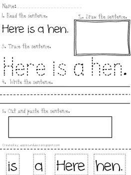 Pin On Literacy Activities For Kindergarten - 39+ Tracing Printable Kindergarten Writing Sentences Worksheets Images