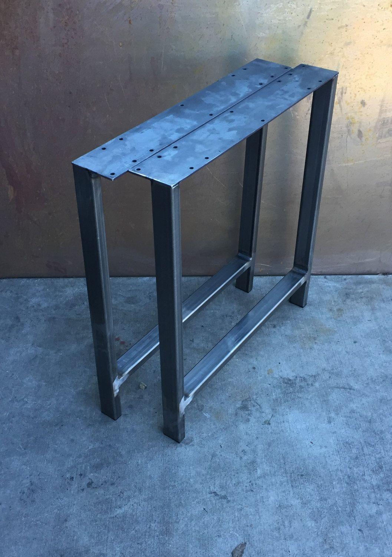Metal table legs h set of 2 etsy metal table legs