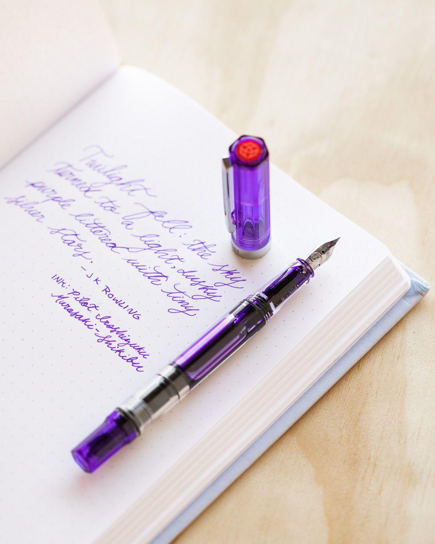 Ceod Shiny Powder Pink Barrel Ink Cartridge Rollerball Pen