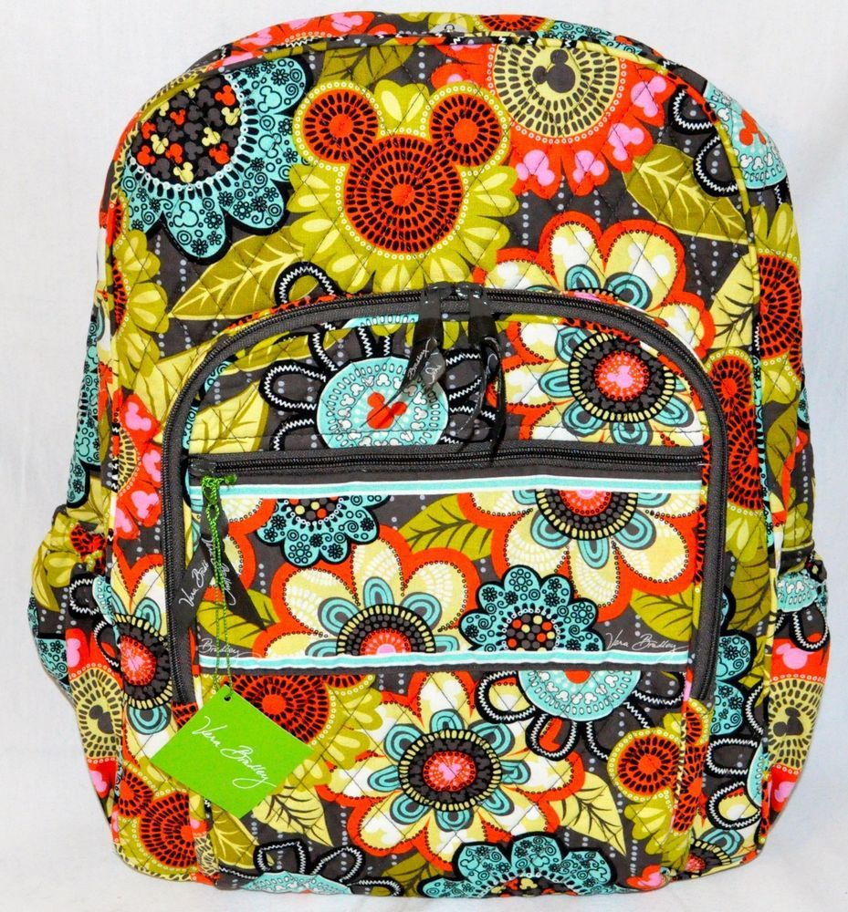 Vera bradley shower curtain - New Disney Vera Bradley Perfect Petals Flower Shower Campus Backpack Bag 1