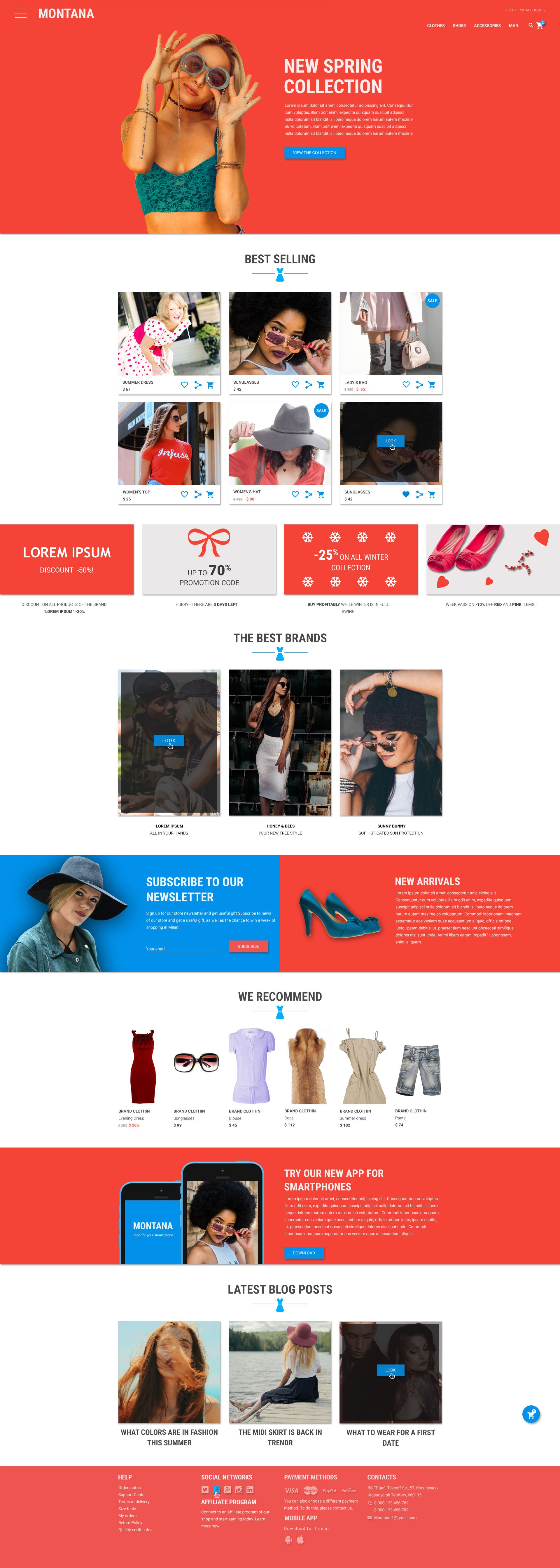 Montana Bright And Modern Online Store Web Design Tips Ecommerce Web Design Web Design Help