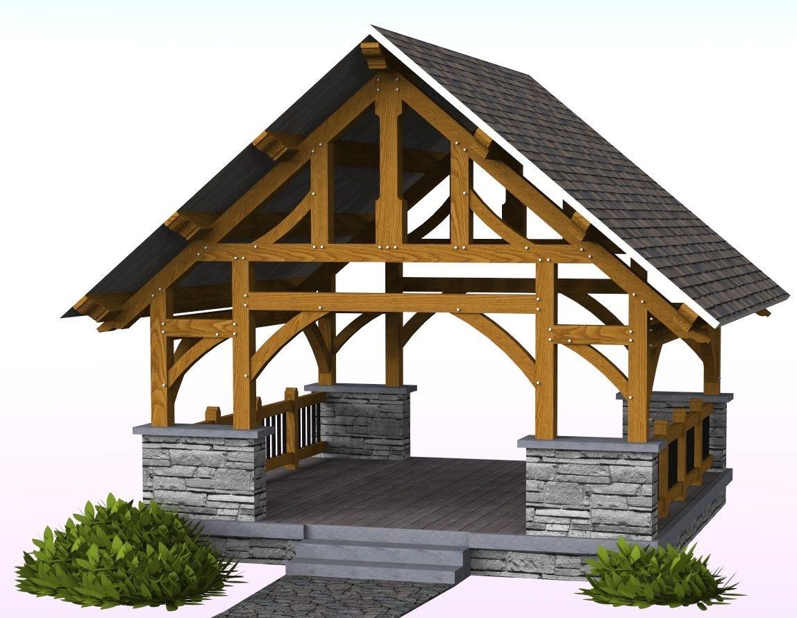 8 best Timber Frame Pavilion Plans images on Pinterest | Timber ...