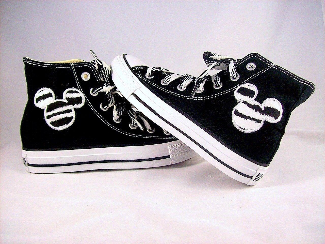 Infant and Kids Custom Chuck Taylor Zebra Print Mouse Ears High Top Converse  Shoes. via Etsy. 53e8477262