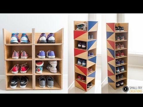 How To Make A Cardboard Shoe Rack Diy Shoe Shelf With Cardboard