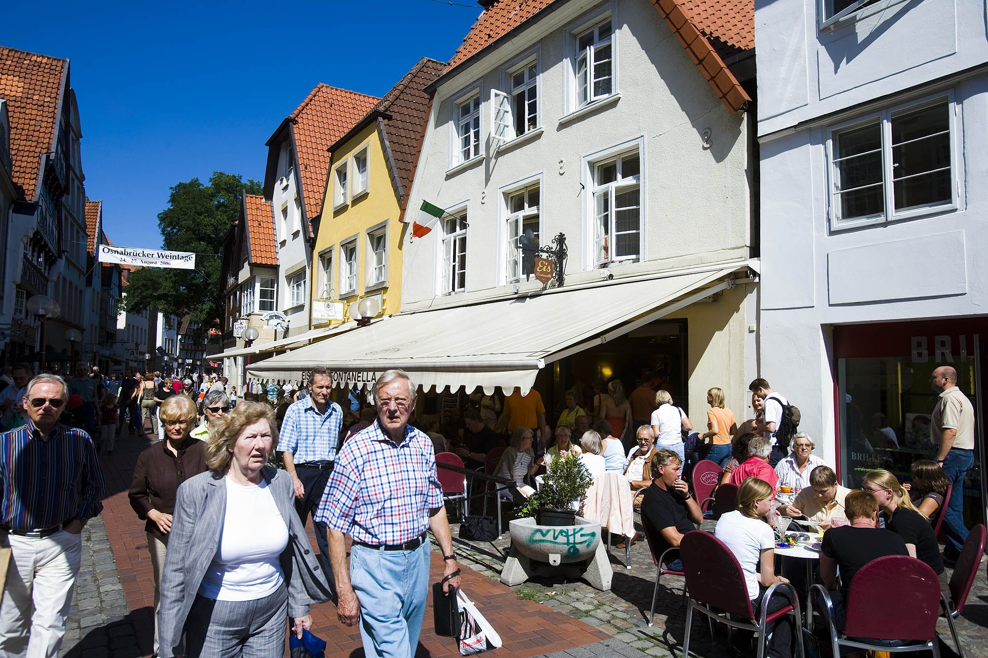 Shopping In The Old Town Of Osnabruck Osnabruck