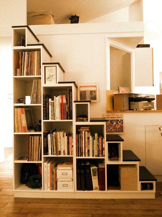 bilbiotheque escalier sur mesure bijoux fait maison. Black Bedroom Furniture Sets. Home Design Ideas