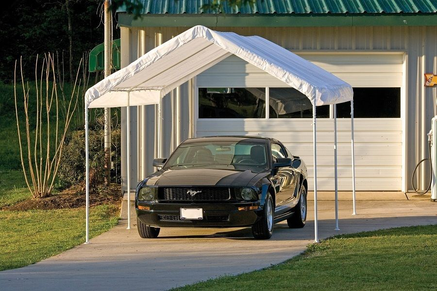 10x20x8 ShelterLogic 6 Leg Canopy Carport Portable Garage Party Tent 25757