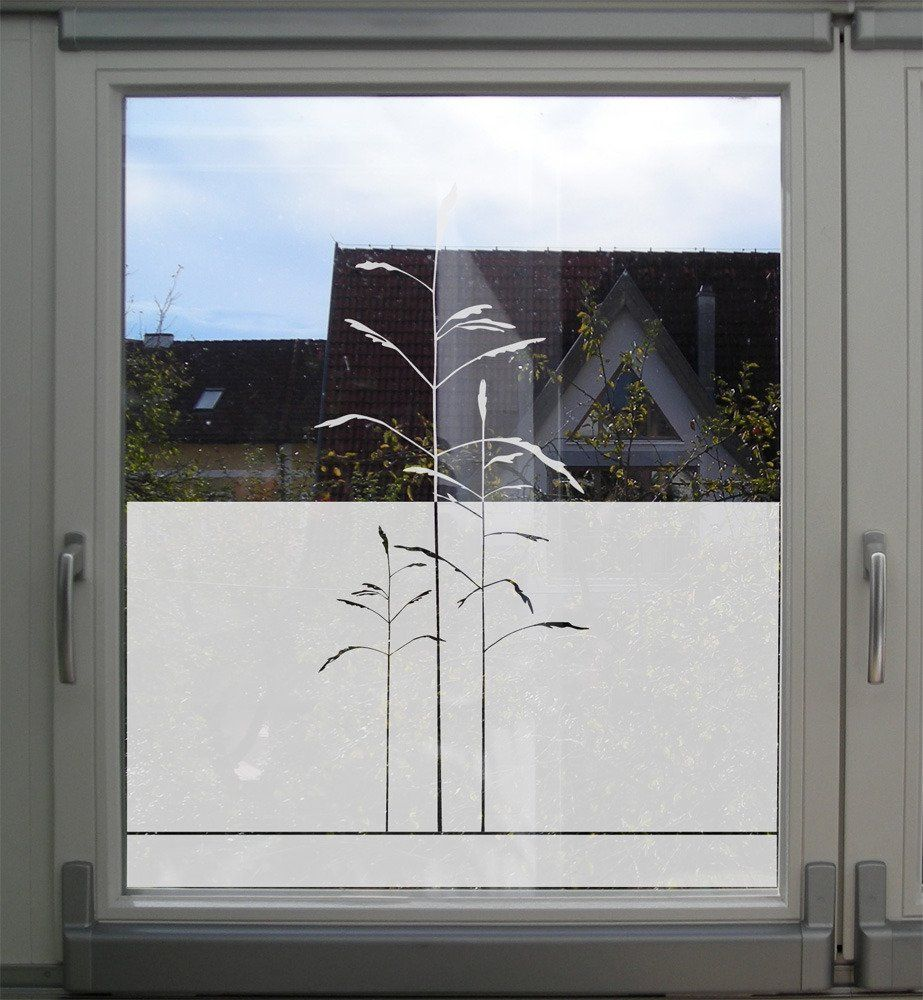 Sichtschutz Folie Fur Fenster Mit Grasern In 2020 Folie Fur