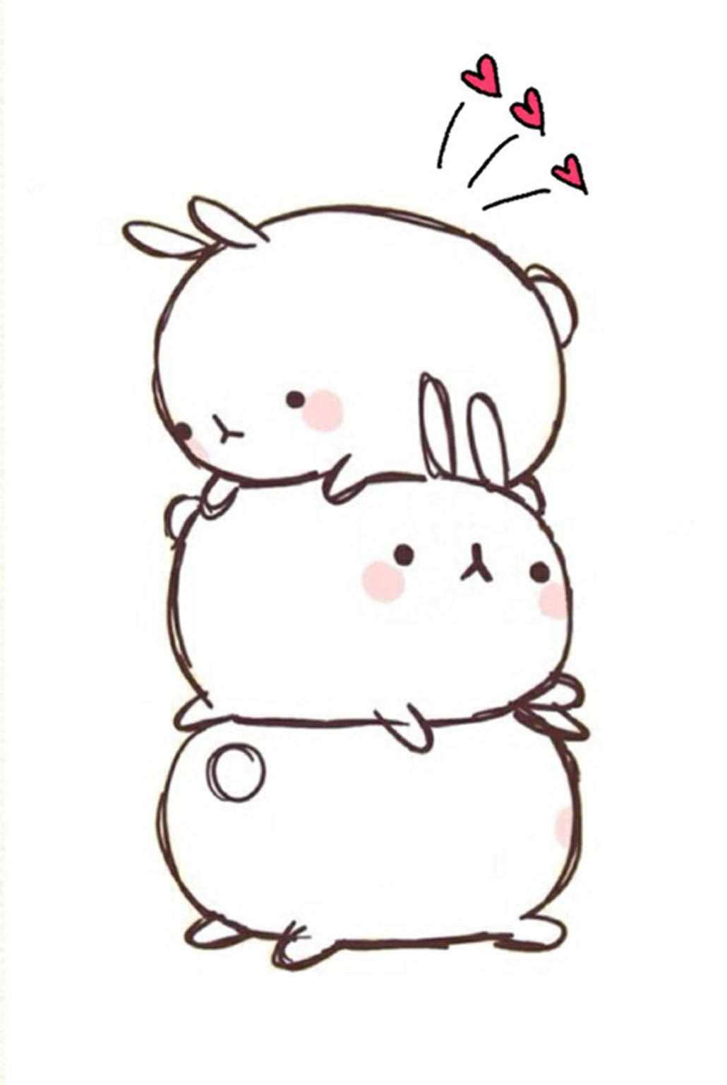 Molang They Are So Cute Graphic Art In 2019 Kawaii