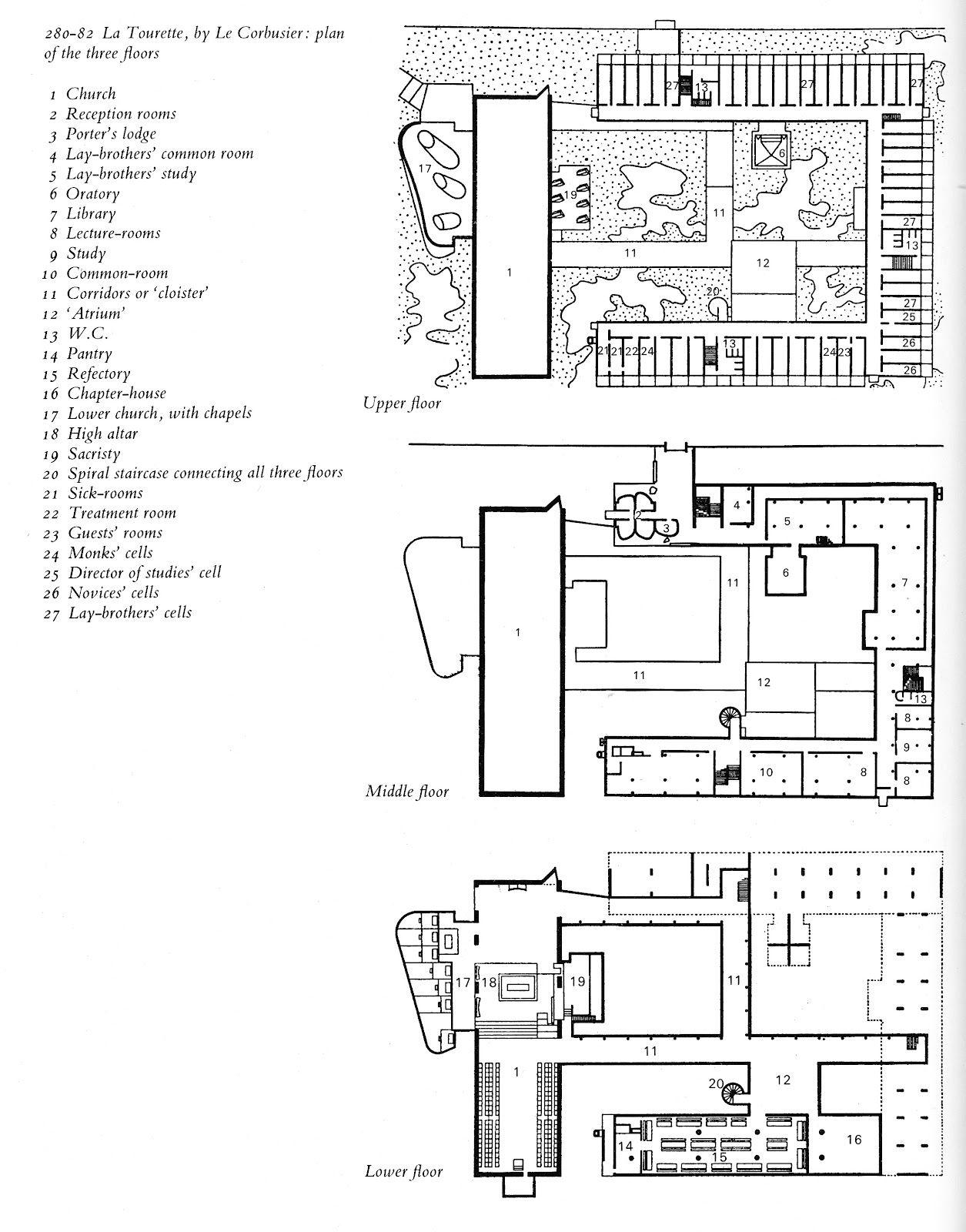 le corbusier sainte marie de la tourette convent 1956. Black Bedroom Furniture Sets. Home Design Ideas