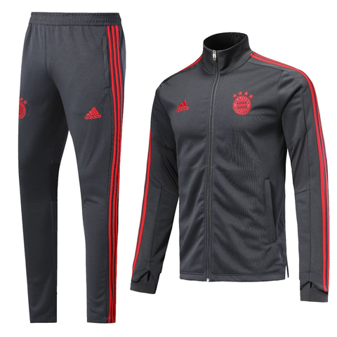 BAYERN MUNCHEN 2019 DARK GREY MEN JACKET TRACKSUIT SLIM FIT