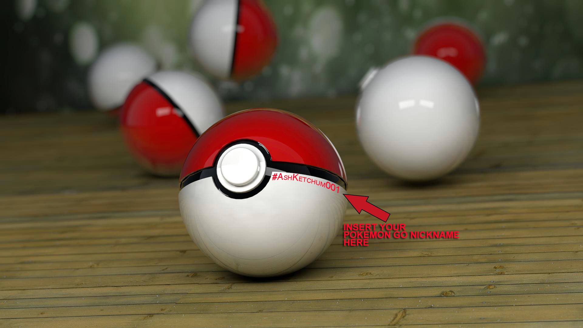Personalized Pokemon Go PLUS Ball- 3D Hi quality with included Pokemon Go Nickname. The product is 3D printed PPE ball, painted with hi quality paint by Maltese Artist. Your Pokemon Go nickname will be hand painted in the ball. Its ideal for present and personal collection.