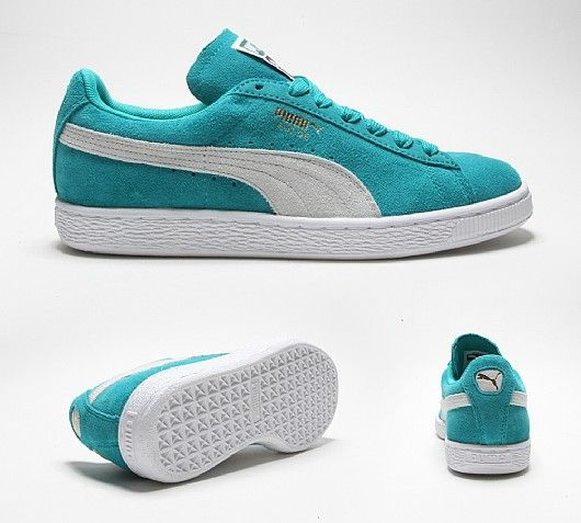 21bd9272823c1c Turquoise Suede Classic Puma Trainers