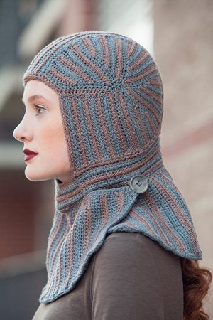 Lady Knight Balaclava pattern by Annie Modesitt