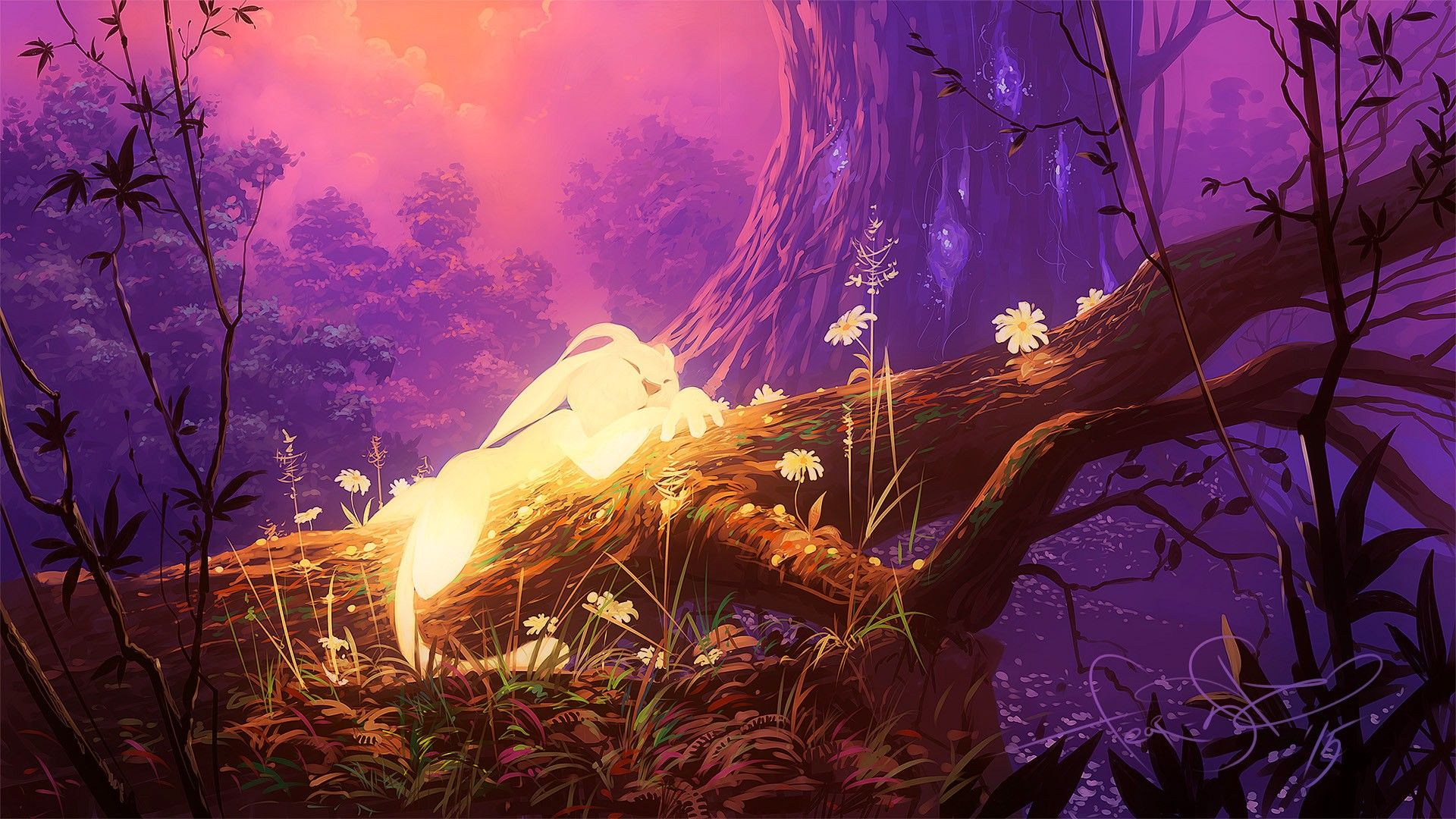 Ori And The Blind Forest 1920x1080 Forest Wallpaper Art Funny Paintings