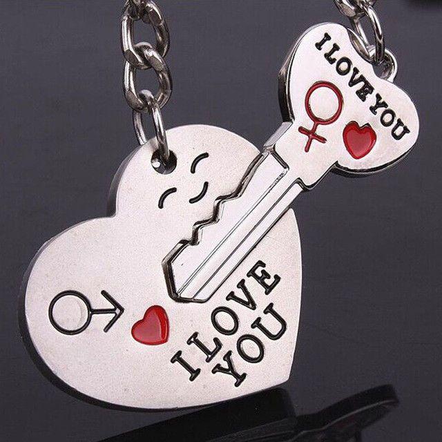 6410b326bb $0.99 - Romantic Couple Keychain Keyring Keyfob Valentine's Day Lover Gift Heart  Key Set #ebay #Collectibles