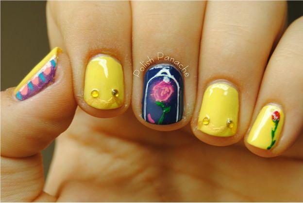 Beautyandthebeastnails Beauty And The Beast Nails Nail